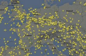 Flightradar vom 12.6.2015 00:30